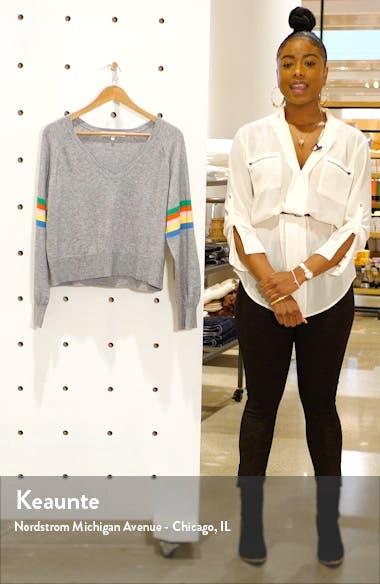 Hazel Rainbow Stripe Sweater, sales video thumbnail