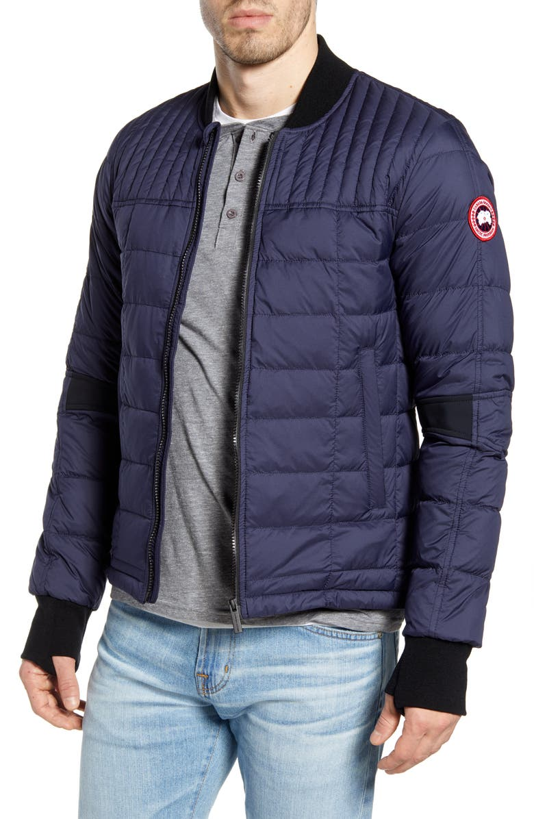 CANADA GOOSE Dunham Slim Fit Packable Down Jacket, Main, color, ADMIRAL NAVY