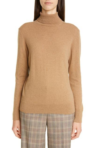Lafayette 148 Sweaters METALLIC CASHMERE TURTLENECK SWEATER
