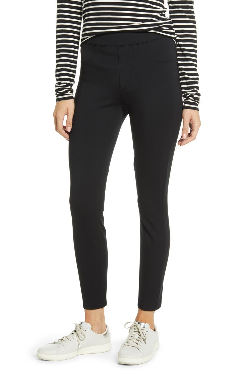 SPANX<SUP>®</SUP> The Perfect Black Pants - Four-Pocket Leggings, Main, color, CLASSIC BLACK