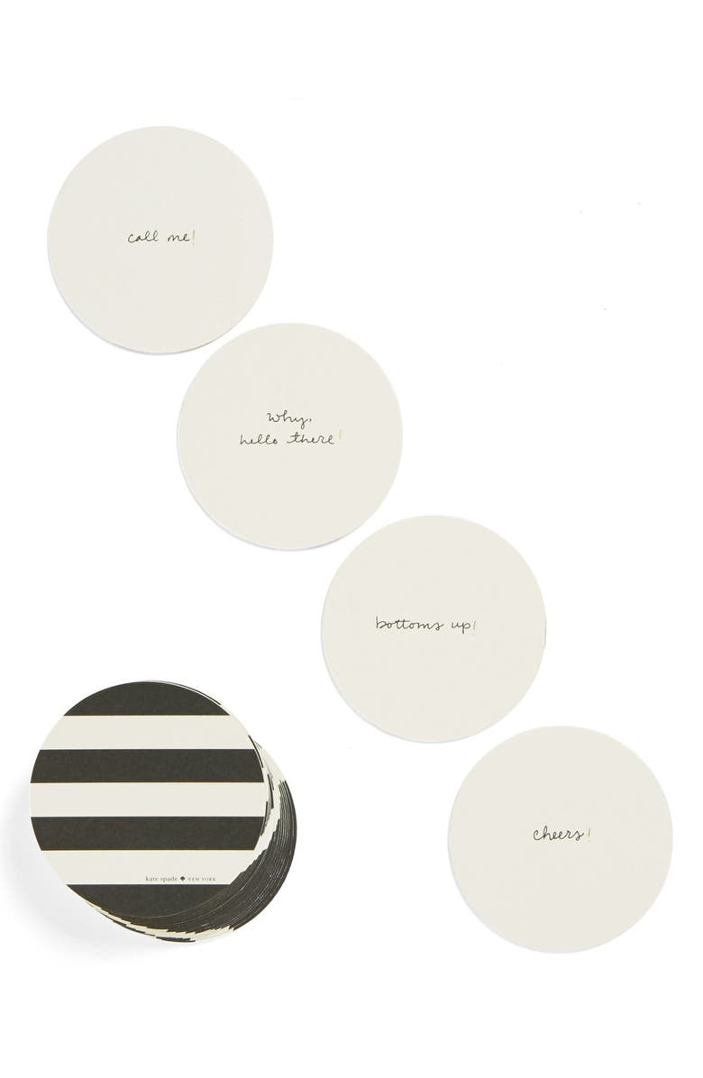 KATE SPADE NEW YORK party coasters, Main, color, 100