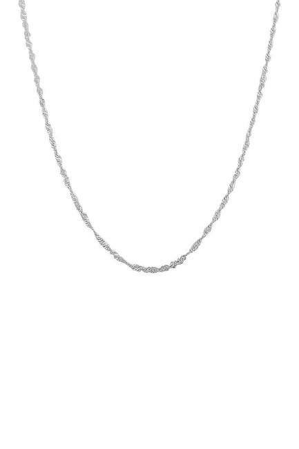 "Image of Best Silver Inc. Sterling Silver 1.5mm Singapore Chain 22"" Necklace"