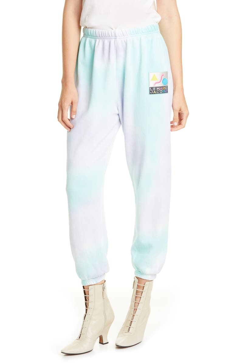 THE MARC JACOBS The Airbrushed Gym Pants, Main, color, LILAC MULTI