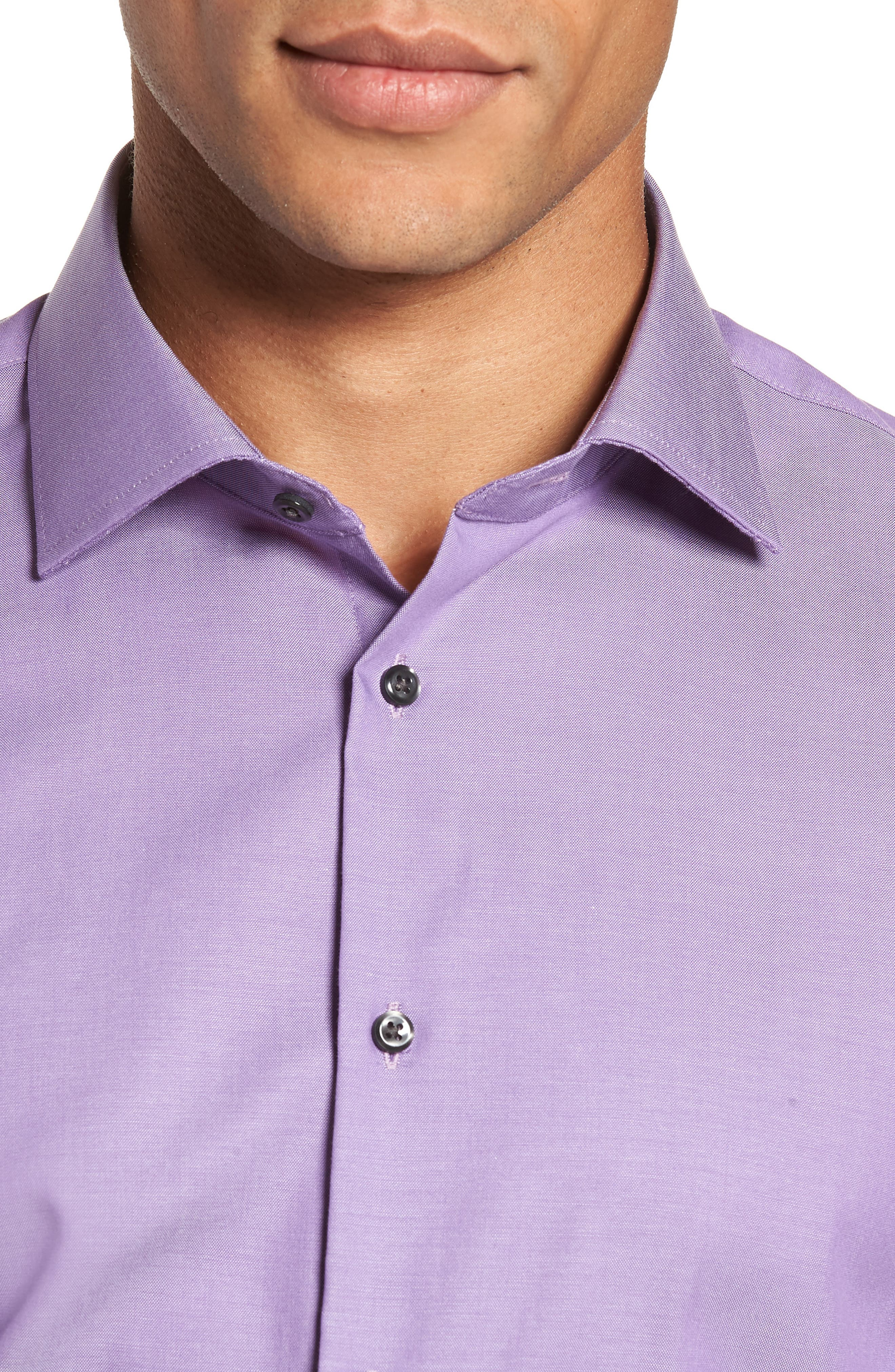 ,                             Extra Trim Fit Non-Iron Solid Dress Shirt,                             Alternate thumbnail 26, color,                             510