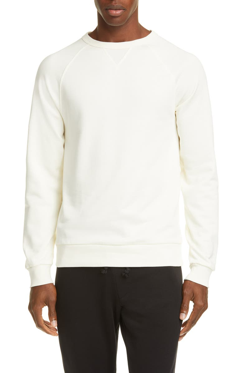 DRIES VAN NOTEN Crewneck Sweatshirt, Main, color, ECRU