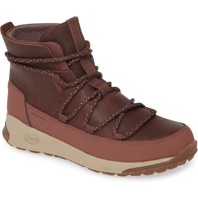 Chaco Borealis Peak Waterproof Lace-Up Boot, Burgundy