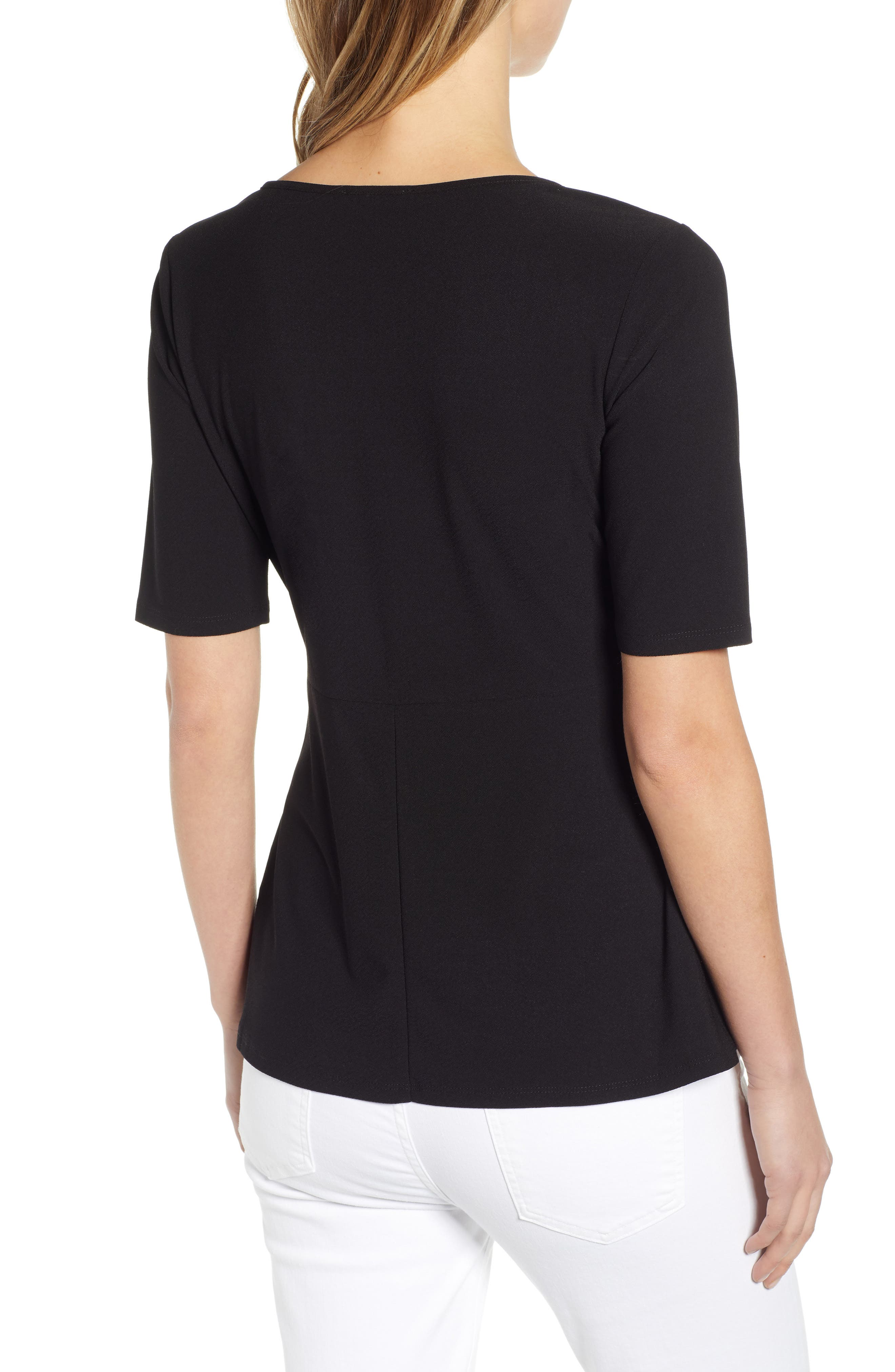 ,                             Side Knot Top,                             Alternate thumbnail 2, color,                             RICH BLACK