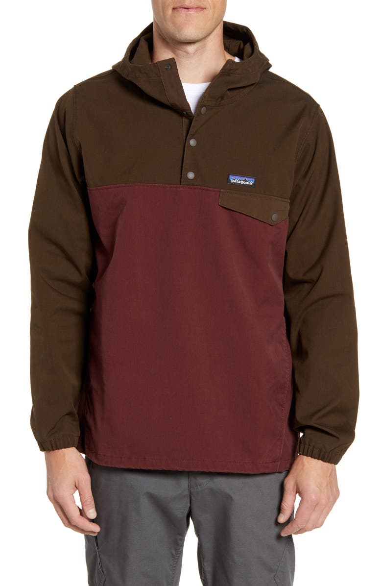 PATAGONIA Maple Grove Snap-T<sup>®</sup> Pullover, Main, color, LOGWOOD BROWN