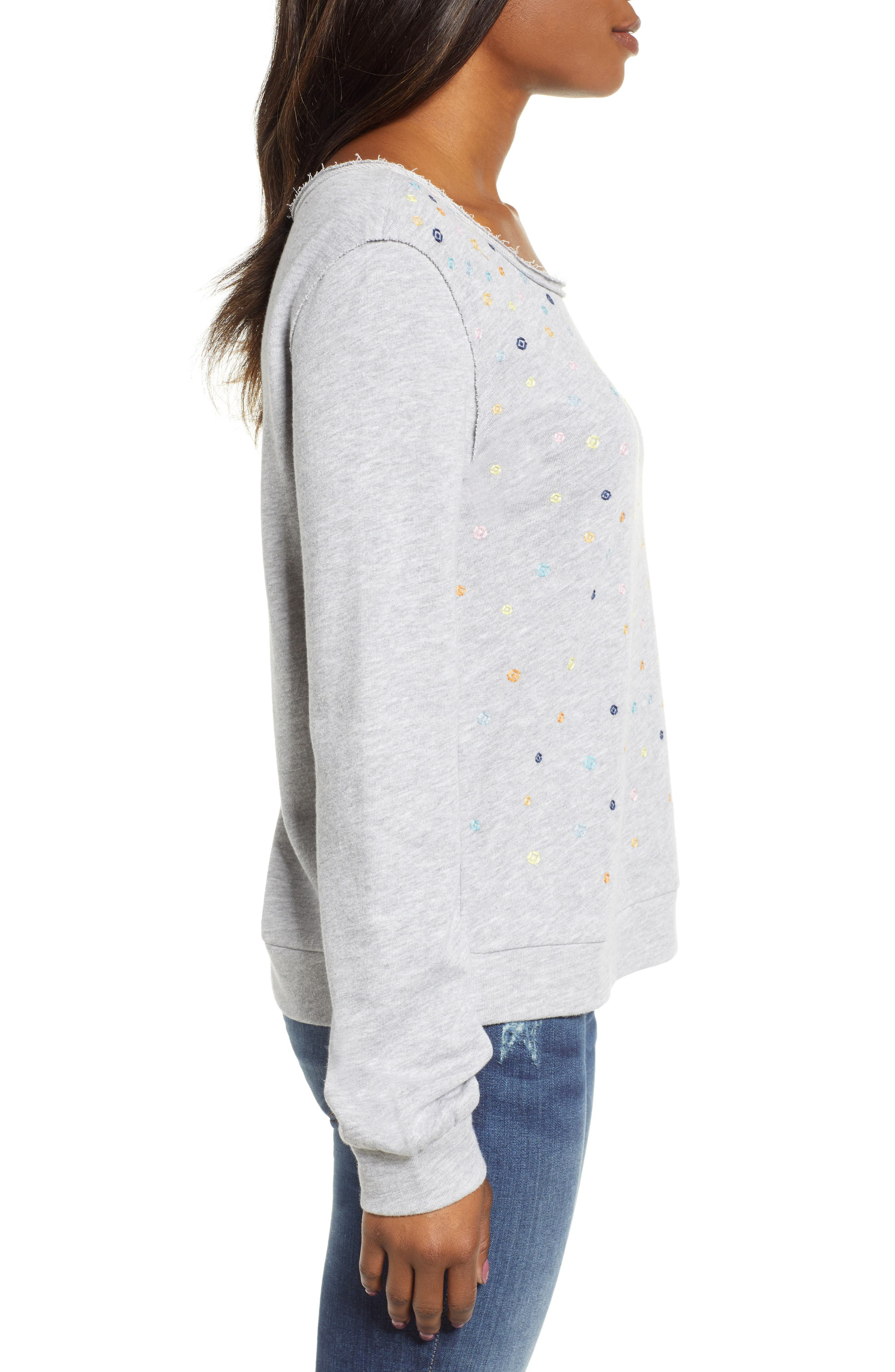 ,                             Embroidered Sweatshirt,                             Alternate thumbnail 3, color,                             030