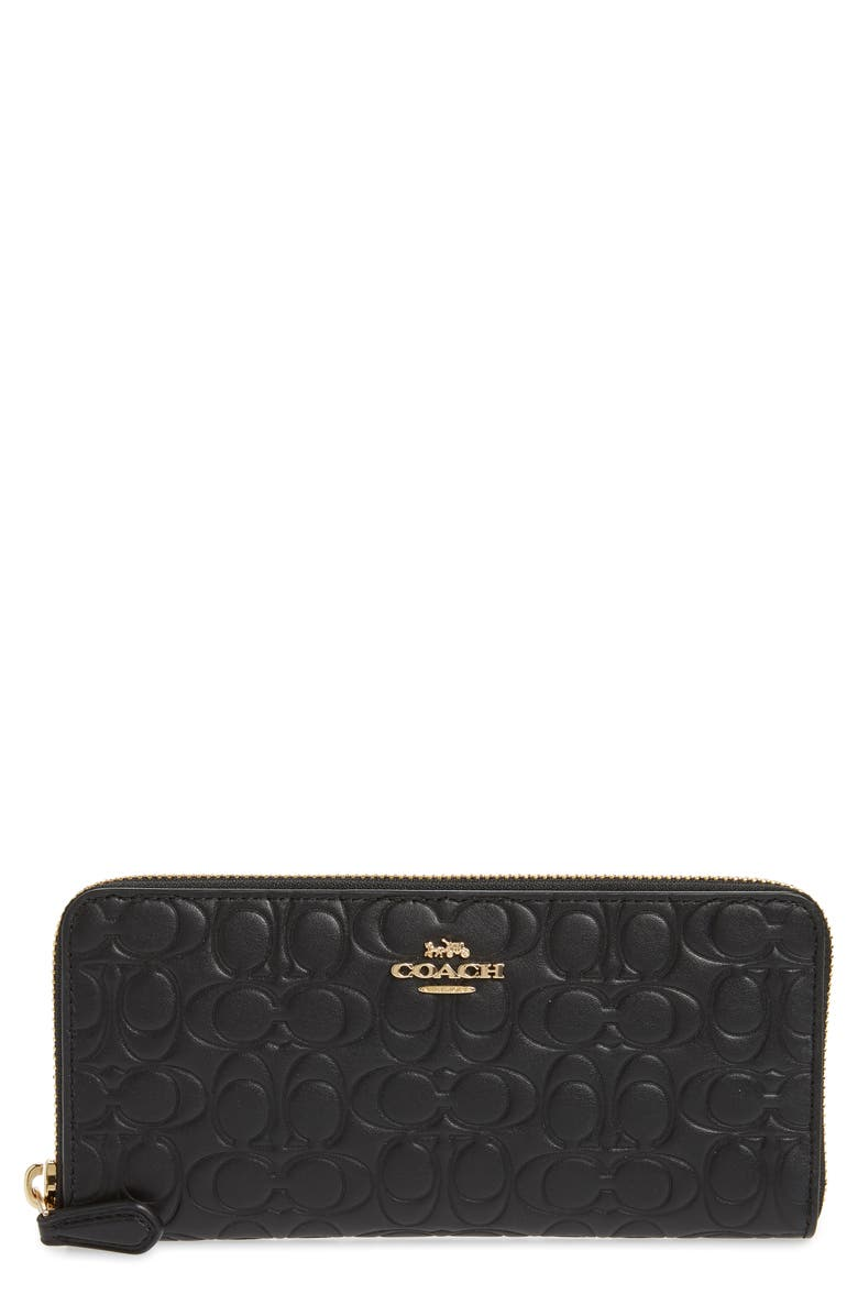 a8268313b59 Signature Accordion Zip Around Leather Wallet, Main, color, 005