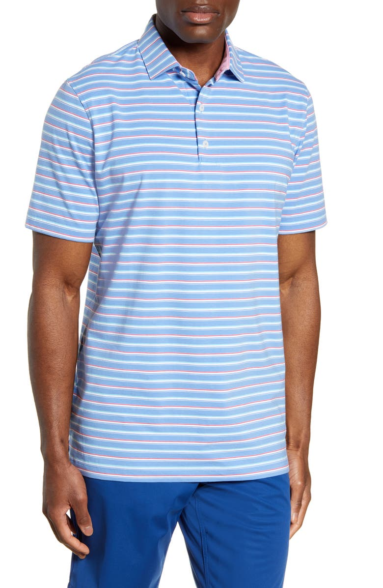 JOHNNIE-O Gates Classic Fit Polo, Main, color, LAGUNA BLUE