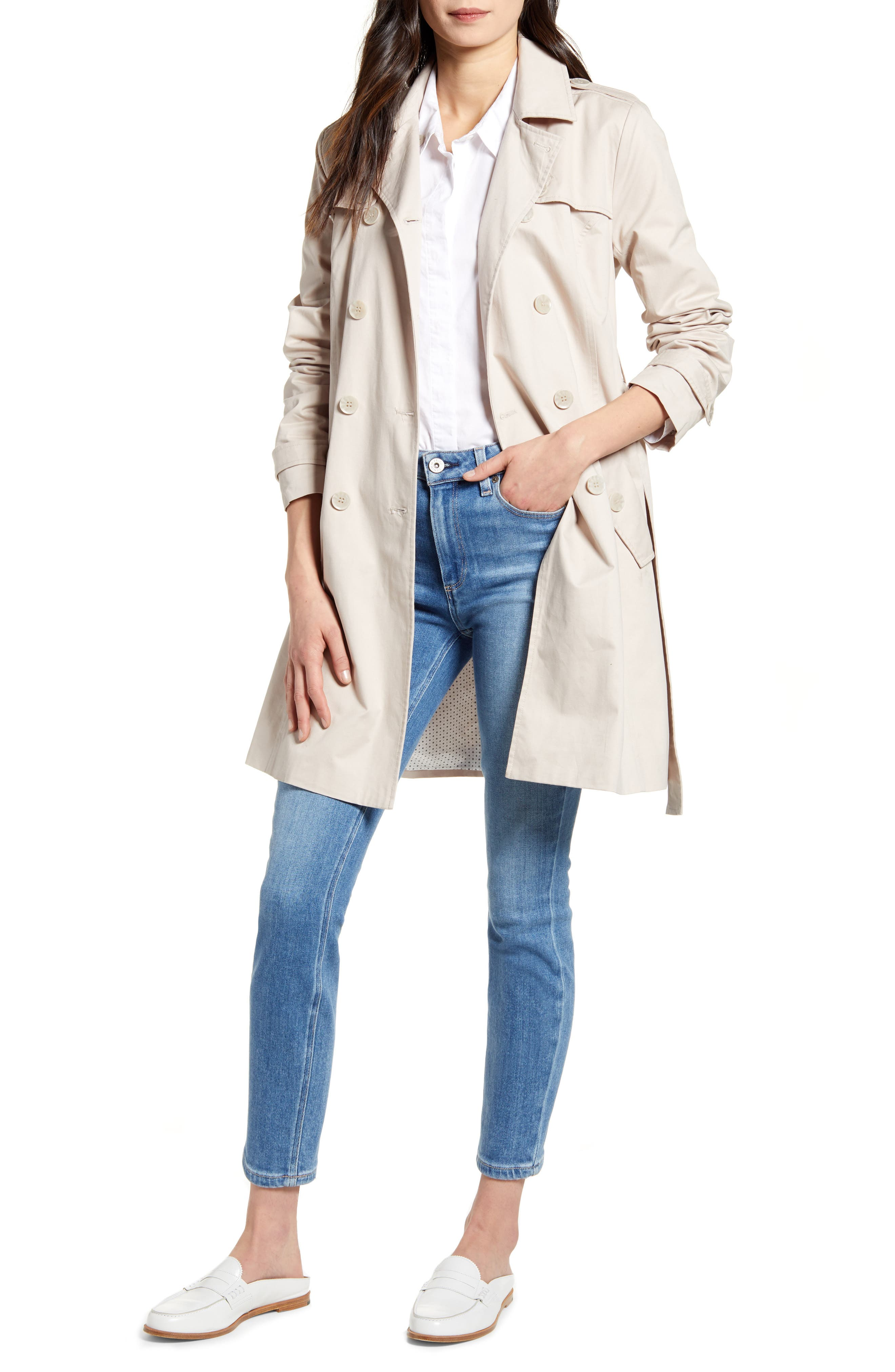 cupcakes & cashmere Cydney Cotton Trench Coat