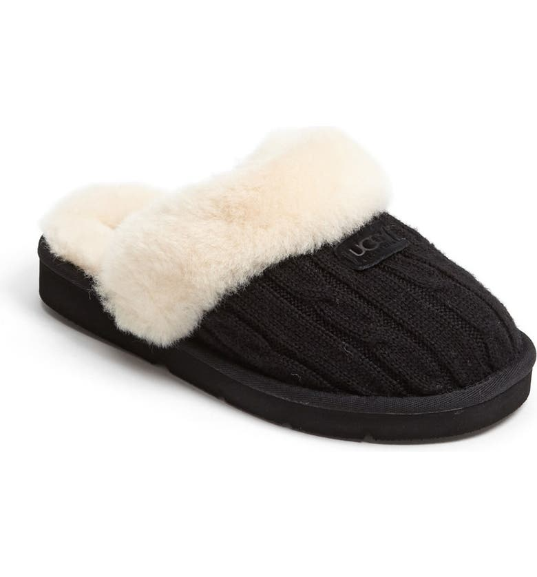 UGG<SUP>®</SUP> Australia 'Cozy' Knit Slipper, Main, color, 001