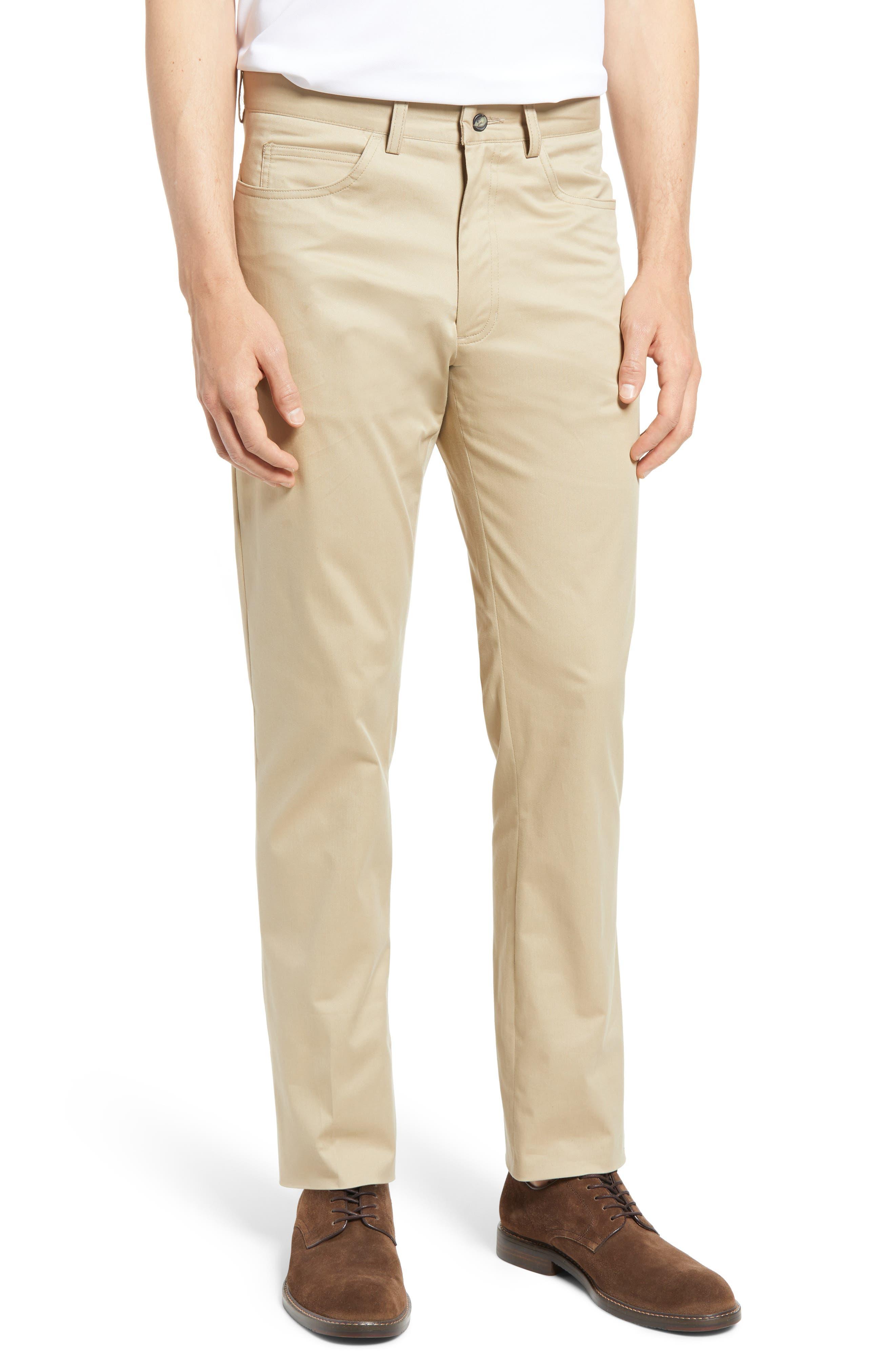Charleston Flat Front Stretch Cotton Dress Pants