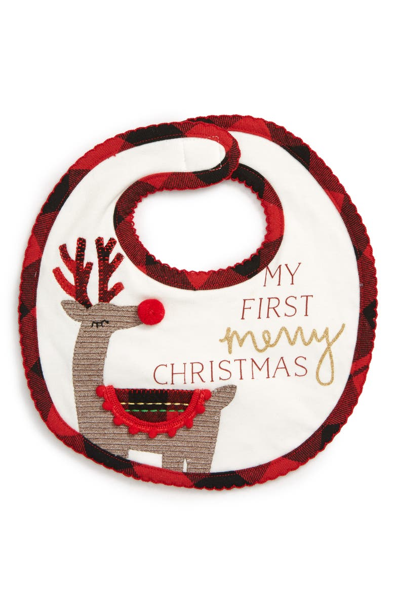 MUD PIE My First Christmas Bib, Main, color, 100