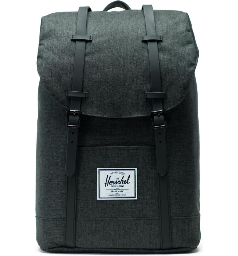 HERSCHEL SUPPLY CO. Retreat Backpack, Main, color, BLACK CROSSHATCH
