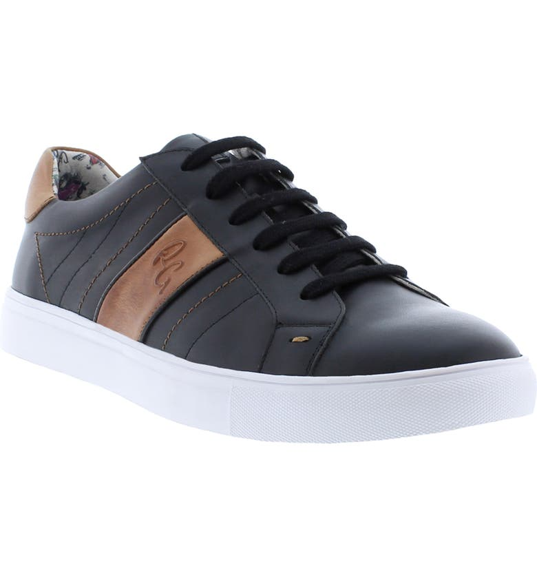 ROBERT GRAHAM Attwood Sneaker, Main, color, BLACK