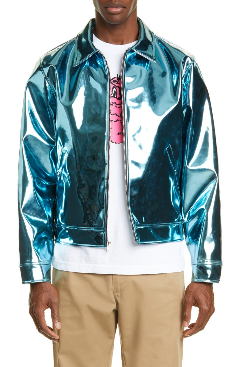 NOON GOONS Swingers Iridescent Jacket, Main, color, BLUE