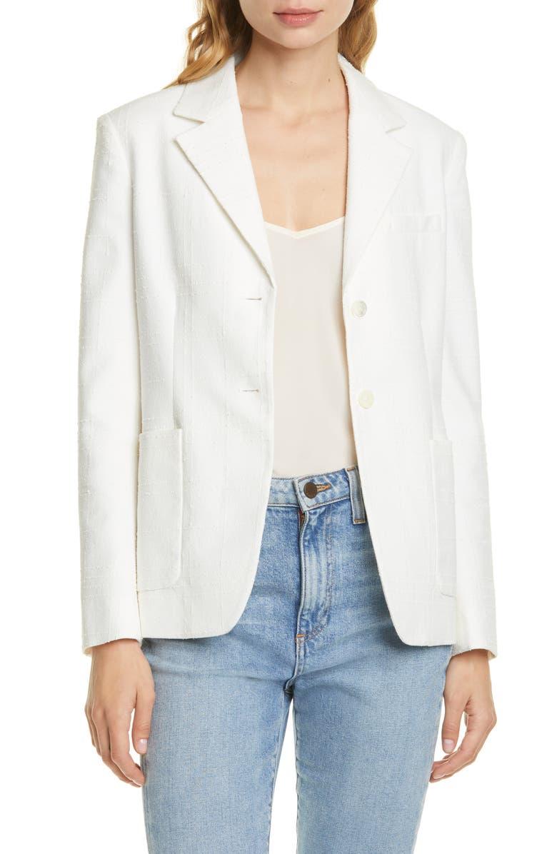 EQUIPMENT Aloy Texture Check Jacket, Main, color, 100