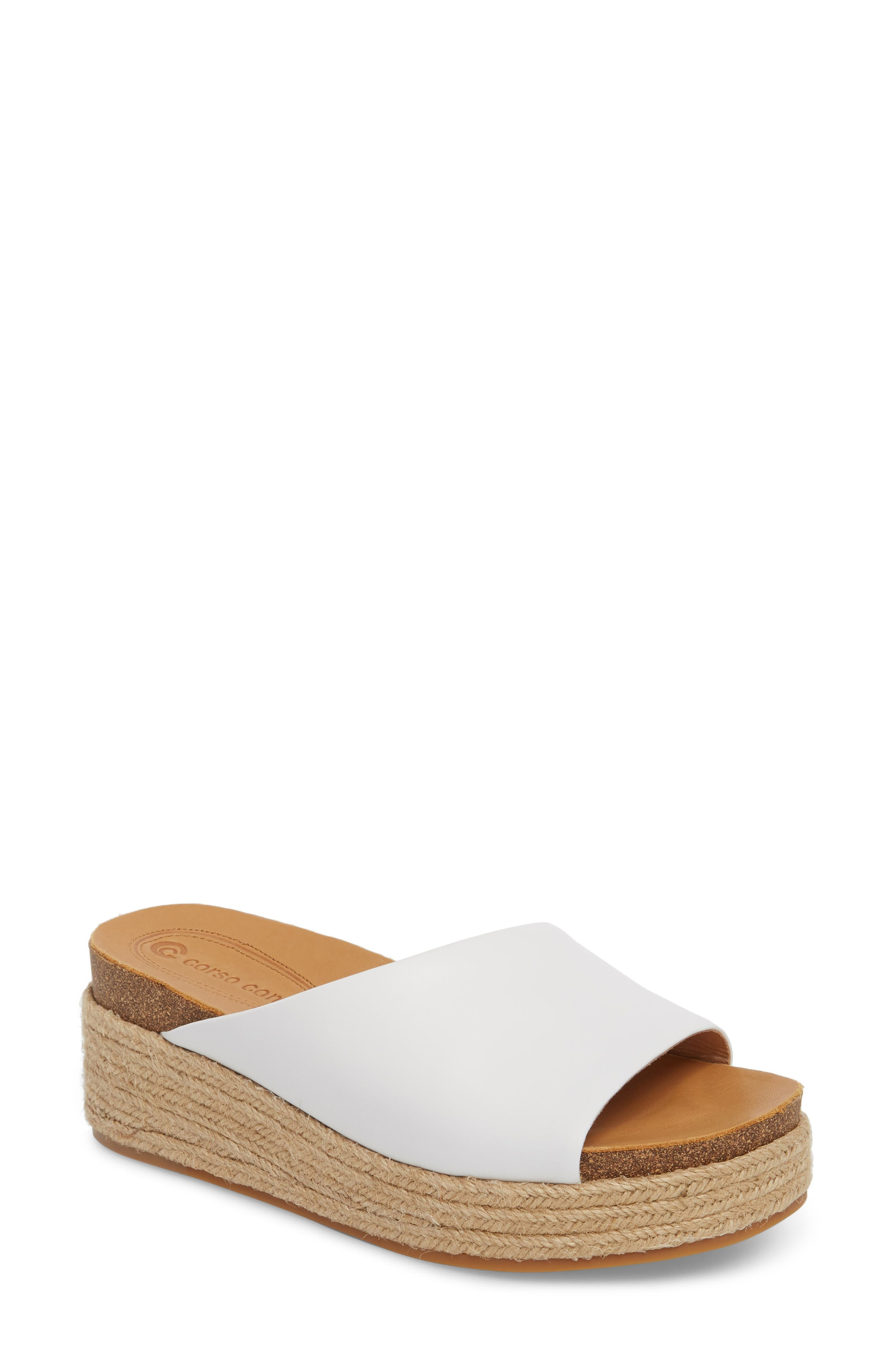 Candice Sandal, Main, color, WHITE LEATHER