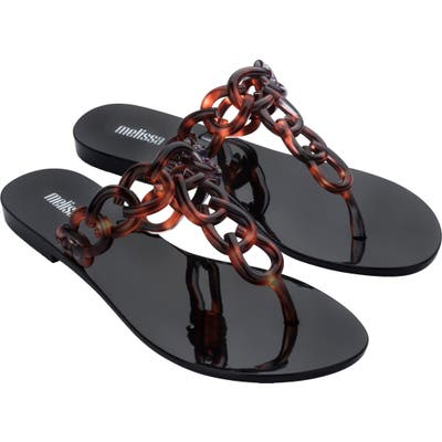 Melissa Big Chain Flip Flop, Black