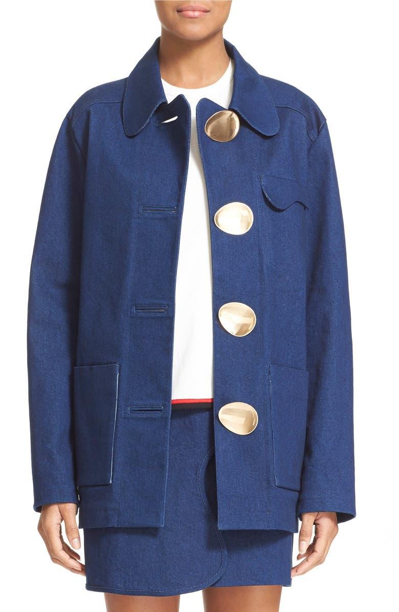 OPENING CEREMONY Washed Denim Jacket, Main, color, 425