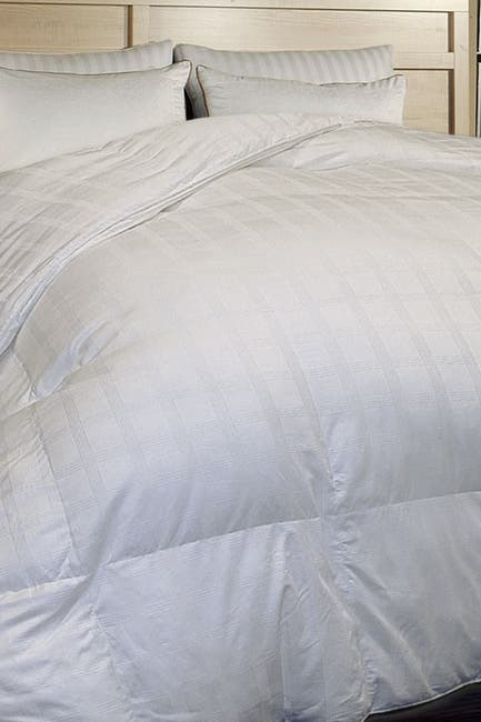 Image of Blue Ridge Home Fashions 600 Thread Count Windowpane Duraloft Down Alternative Comforter - Twin - White