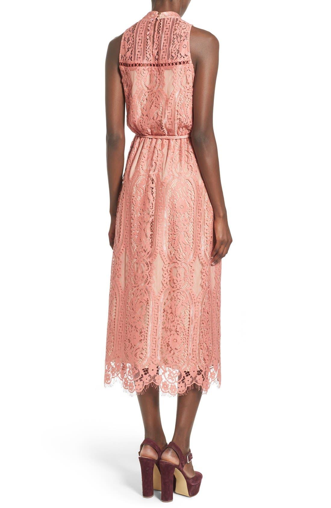 ,                             'Portrait' Lace Midi Dress,                             Alternate thumbnail 10, color,                             840
