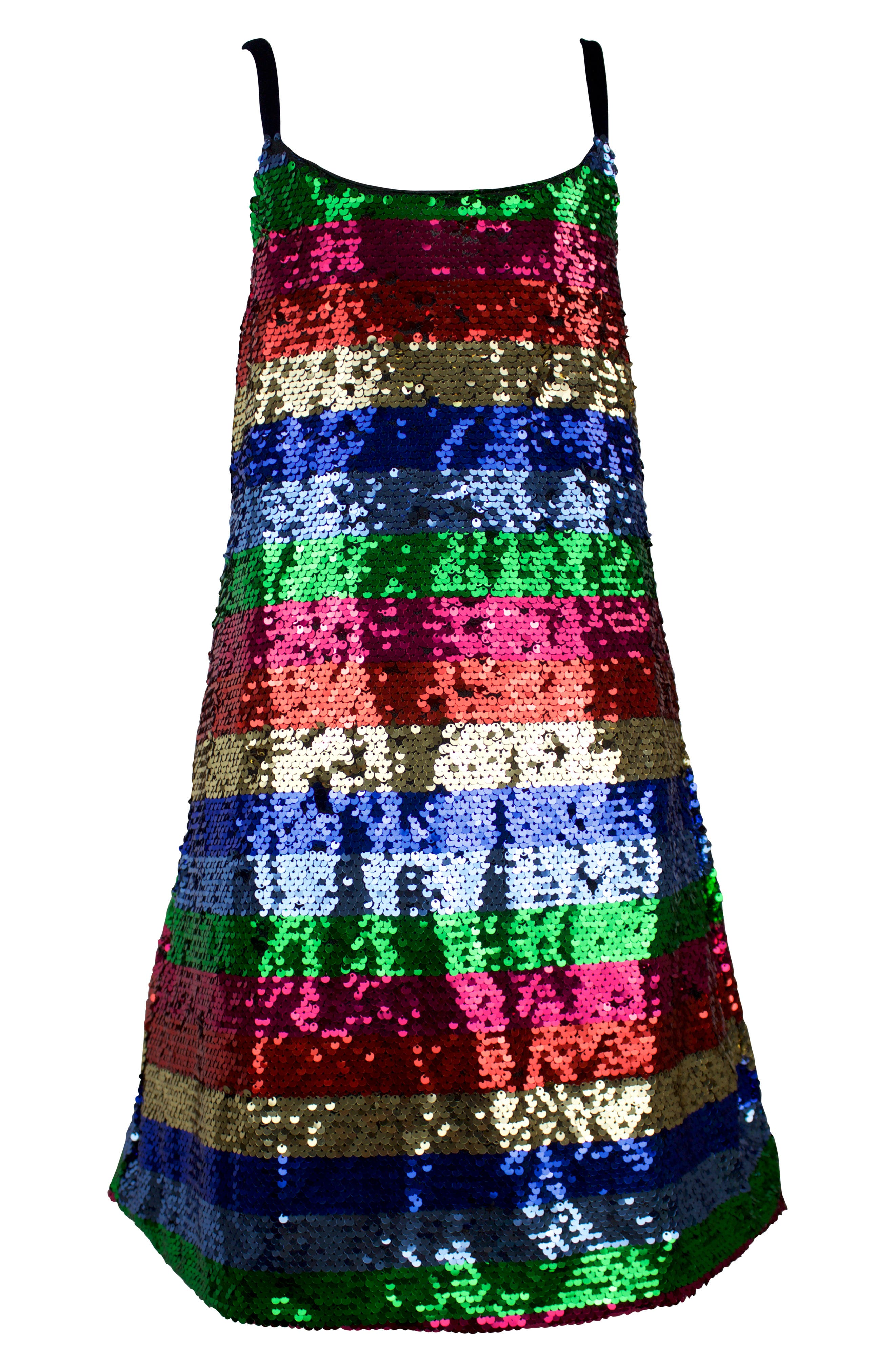 60s 70s Kids Costumes & Clothing Girls & Boys Toddler Girls Lola  The Boys Chasing Rainbows Sequin Dress Size 4T - Pink $74.00 AT vintagedancer.com