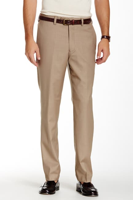"Image of Louis Raphael Solid Stretch Dress Slim Fit Pants - 30-34"" Inseam"