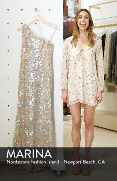 One-Shoulder Sequin Chiffon Evening Dress, sales video thumbnail