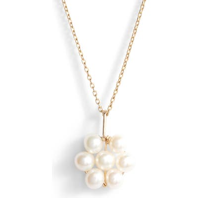 Poppy Finch Baby Pearl Flower Pendant Necklace