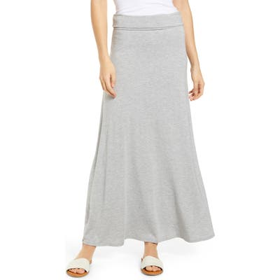 Loveappella Roll Top Maxi Skirt, Grey