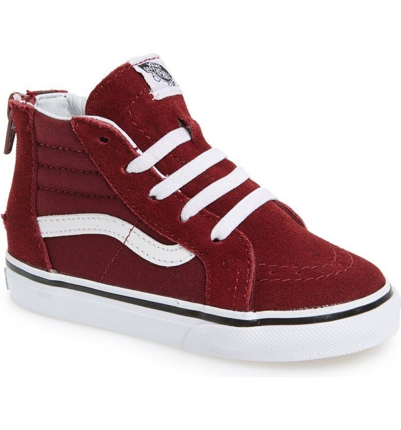 VANS Sk8-Hi Zip Sneaker, Main, color, WINDSOR WINE