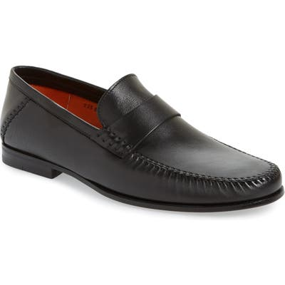 Santoni Paine Loafer - Black
