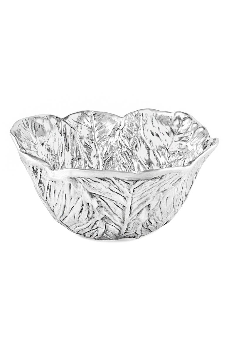 BEATRIZ BALL COLLECTION Garden Cabbage Bowl, Main, color, SILVER