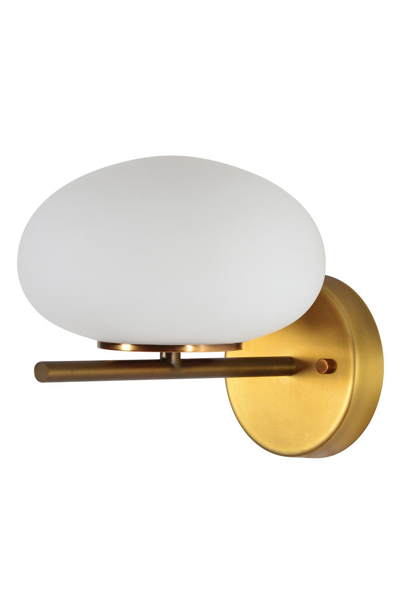 RENWIL Acai Wall Sconce, Main, color, WHITE ANTIQUE BRASS