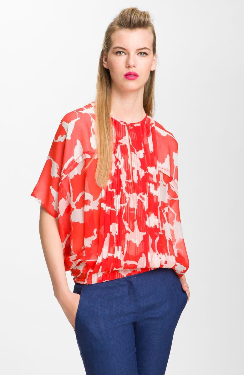 DIANE VON FURSTENBERG 'Khalila' Silk Kimono Top, Main, color, 642
