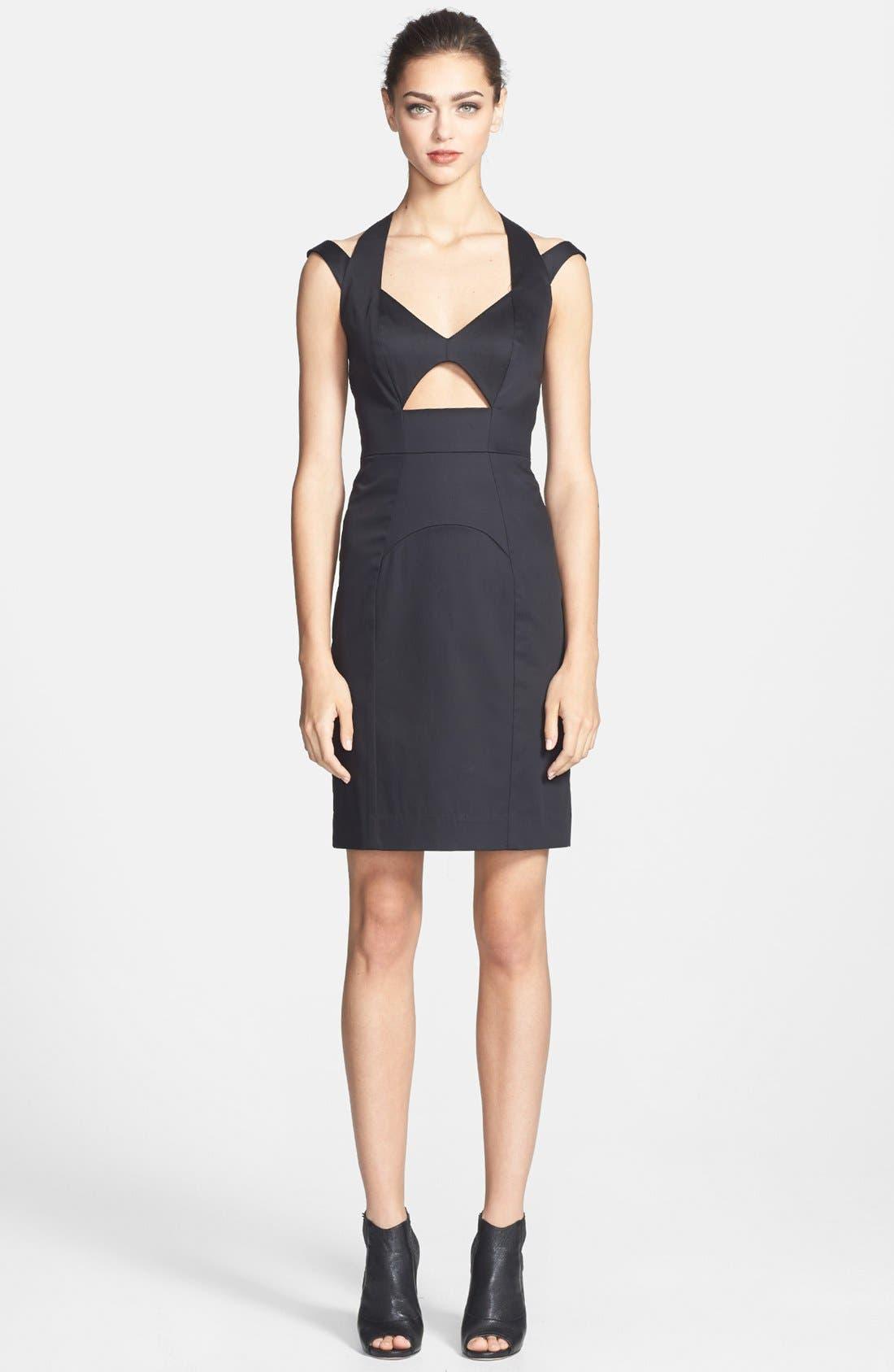 ,                             Cutout Dress,                             Main thumbnail 1, color,                             001