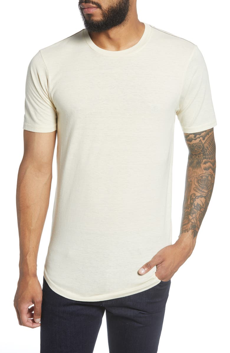 GOODLIFE Scallop Triblend Crewneck T-Shirt, Main, color, SEED