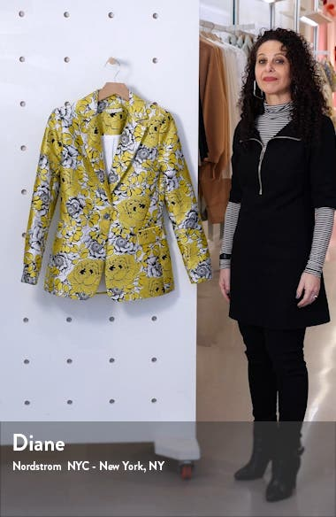 Macey Floral Fitted Blazer, sales video thumbnail