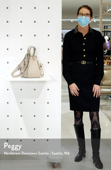 Small Hammock Leather & Linen Hobo, sales video thumbnail
