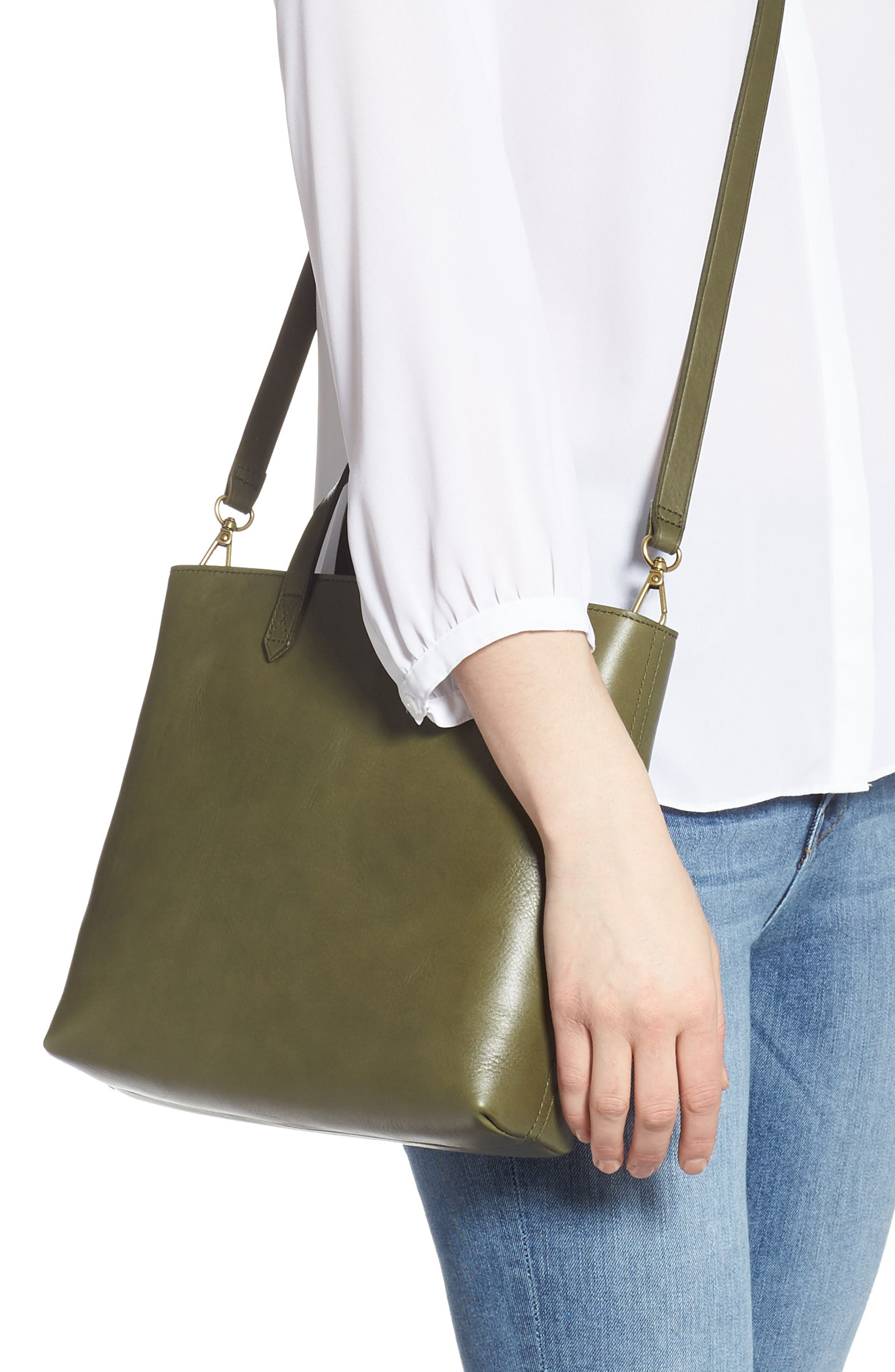 ,                             Small Transport Leather Crossbody Tote,                             Alternate thumbnail 45, color,                             300