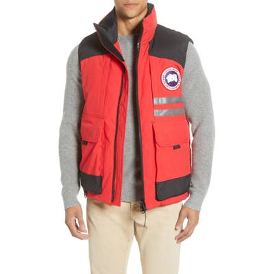 Canada Goose Duncan 625 Fill Power Down Vest, Red