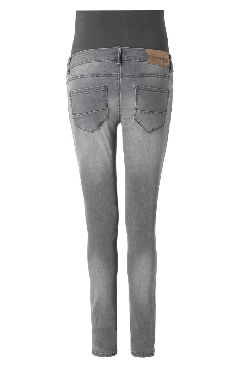 NOPPIES Avi Skinny Maternity Jeans, Main, color, GREY DENIM