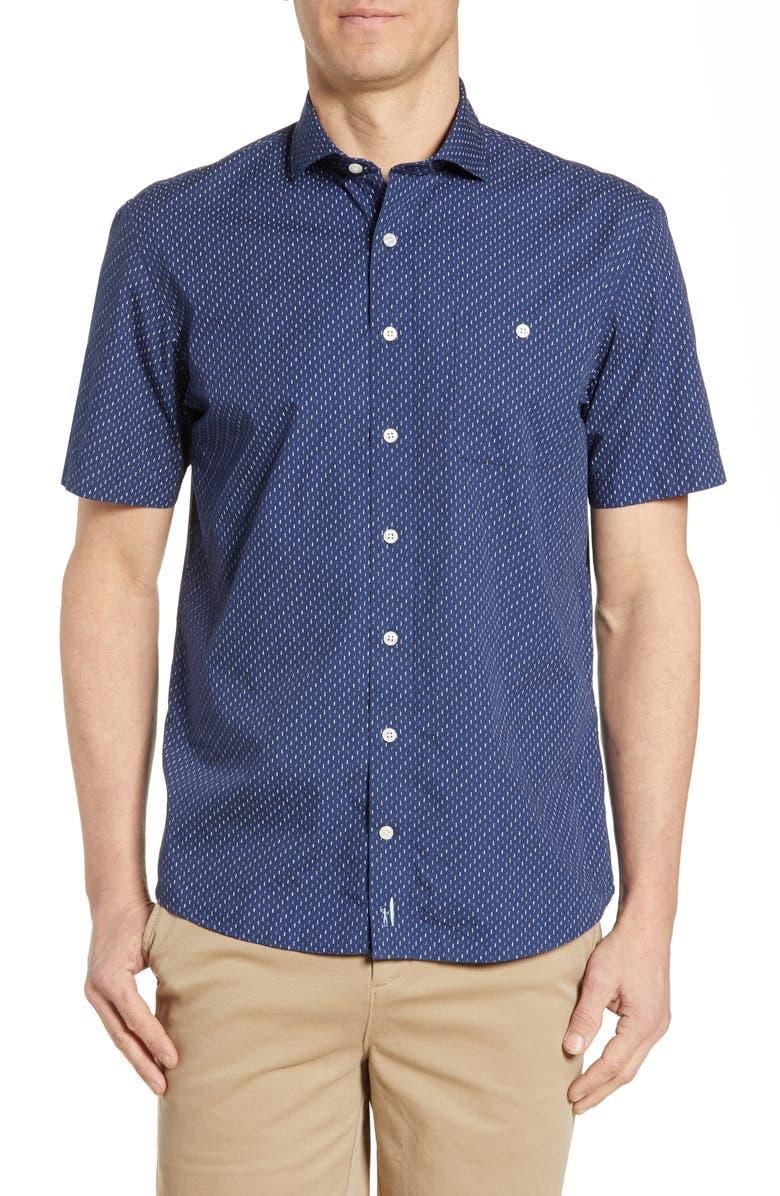 JOHNNIE-O Lisbon Classic Fit Shirt, Main, color, TWILIGHT