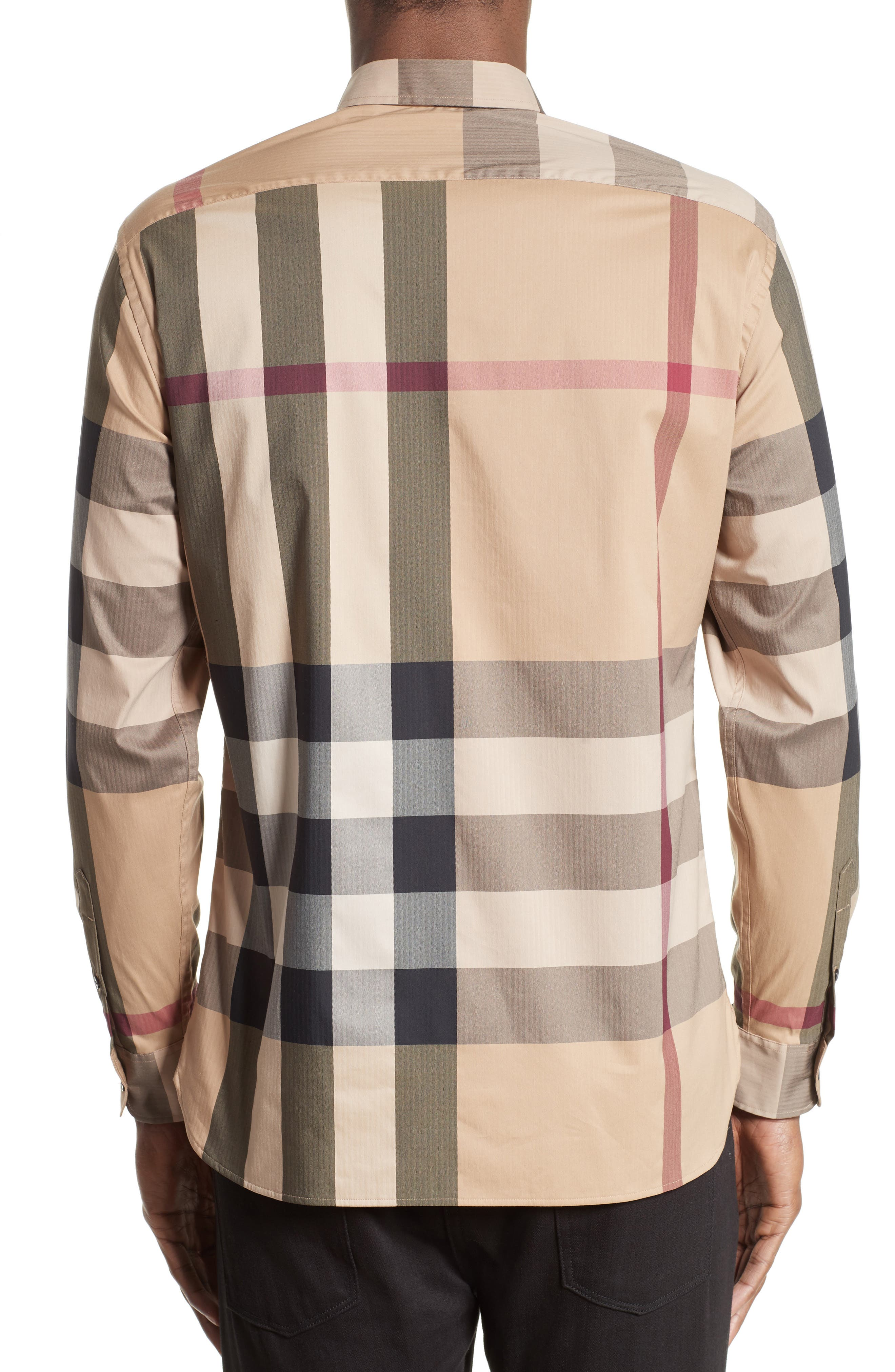 ,                             Thornaby Slim Fit Plaid Sport Shirt,                             Alternate thumbnail 8, color,                             251