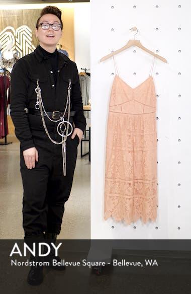 Cotton Blend Lace Midi Dress, sales video thumbnail
