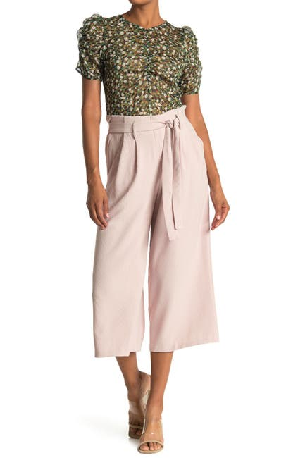 Image of Lush Cropped Wide Leg Trousers