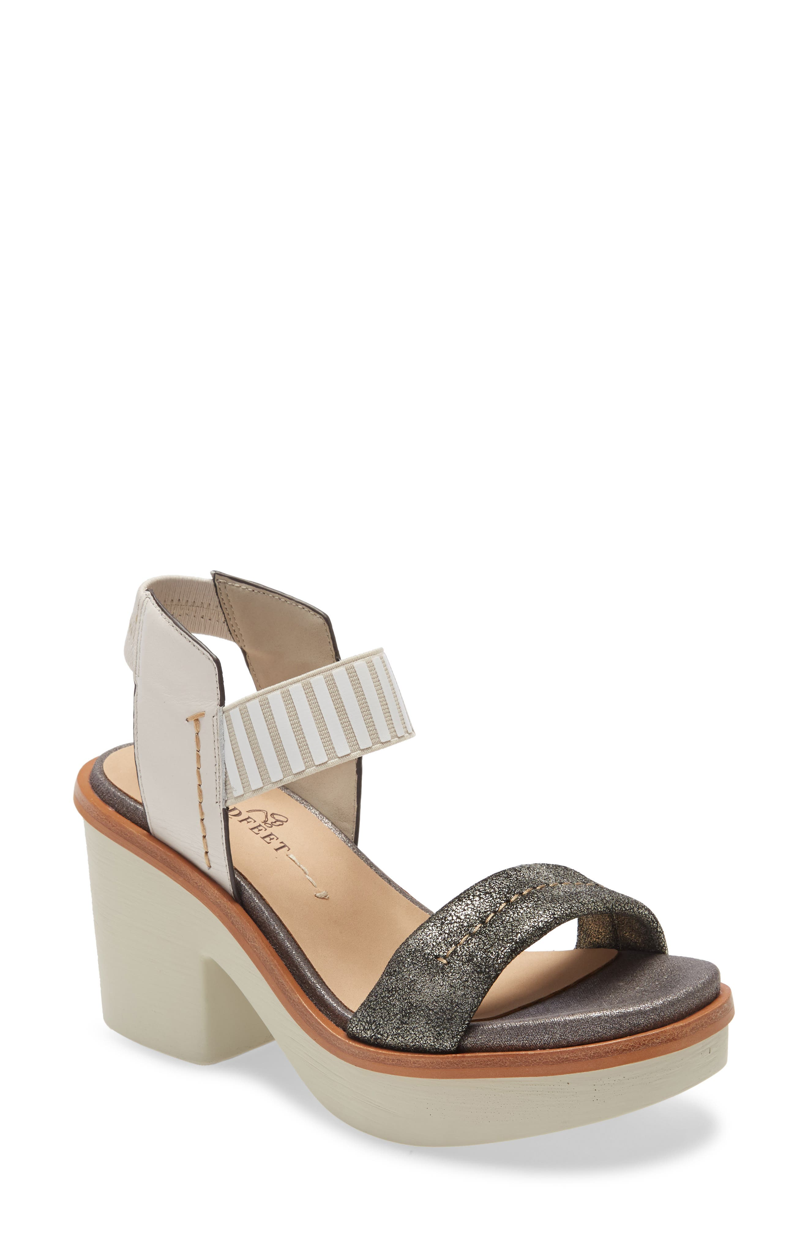 Mixed-media construction and a chunky rocker sole make this supple leather sandal even more fun to wear. Style Name: Naked Feet Basalt Platform Sandal (Women). Style Number: 6042931. Available in stores.